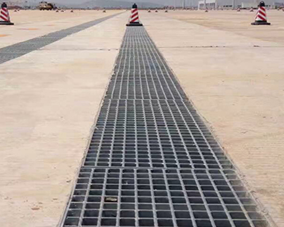 格栅盖板排水沟案例